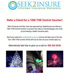 Seek2Insure promotion
